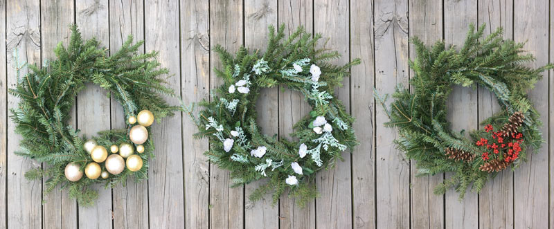 3 Ways to Style an Evergreen Wreath