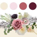 Winter blush color palette