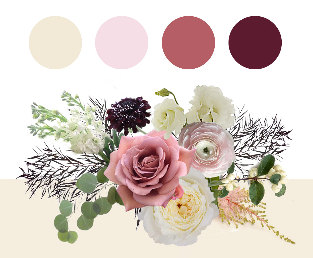 Winter blush color palette