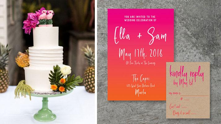 Cake and Invitation