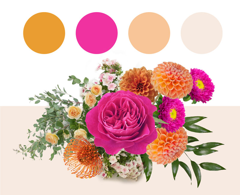 Summer Bouquet and Color Palette