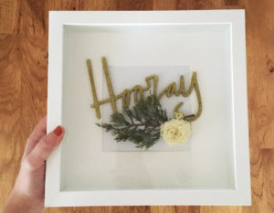 Dried Flower Shadow Box