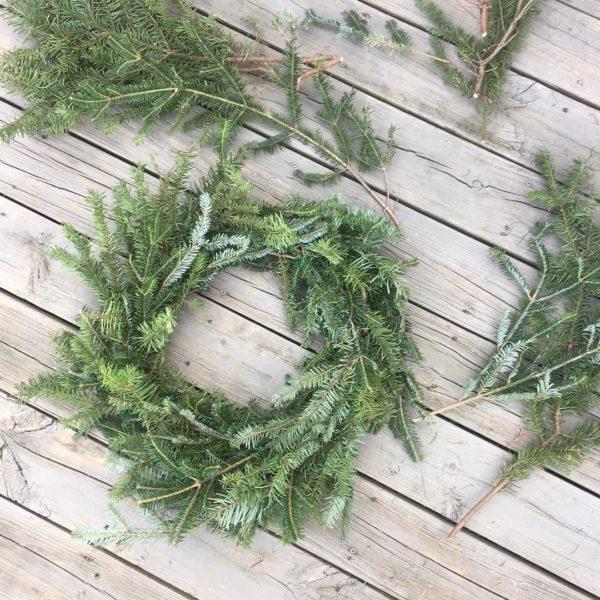 Fresh Holiday Evergreen Wreath Workshop