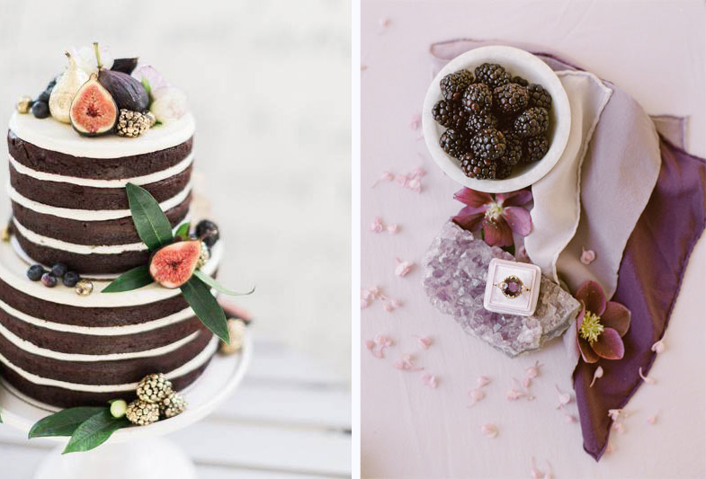 Cake and Plum Wedding Details