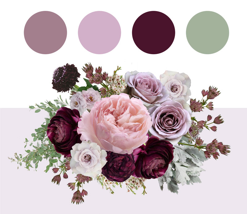 Plum and Mauve Color Palette Inspiration
