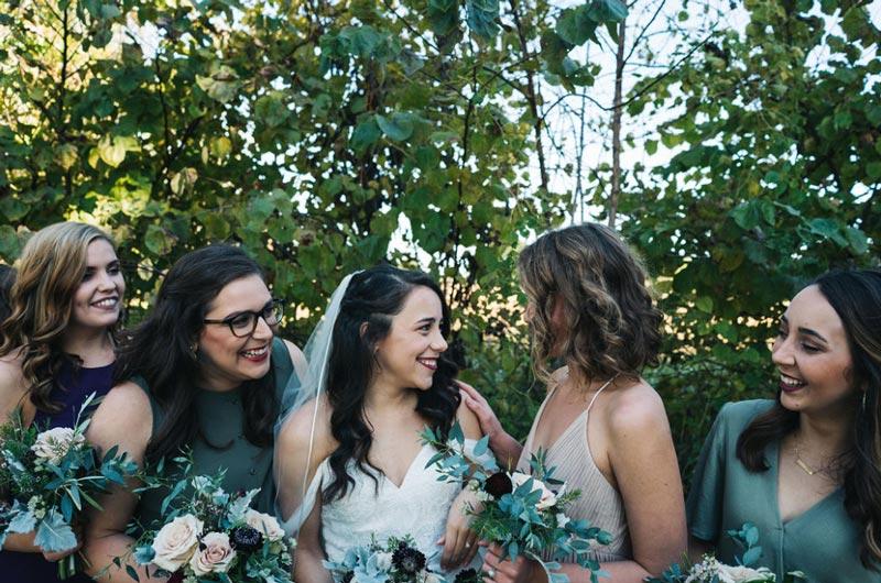 Plum & Beige Bridesmaid Bouquets