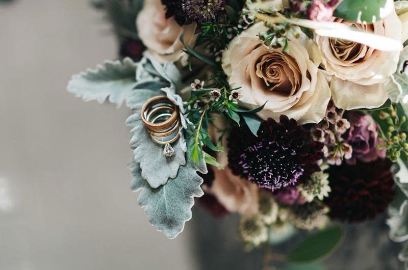 Plum & Beige Bridal Bouquet