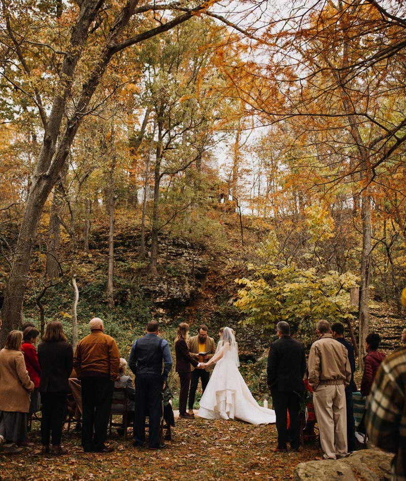 Ceremony at Rockspan Farm