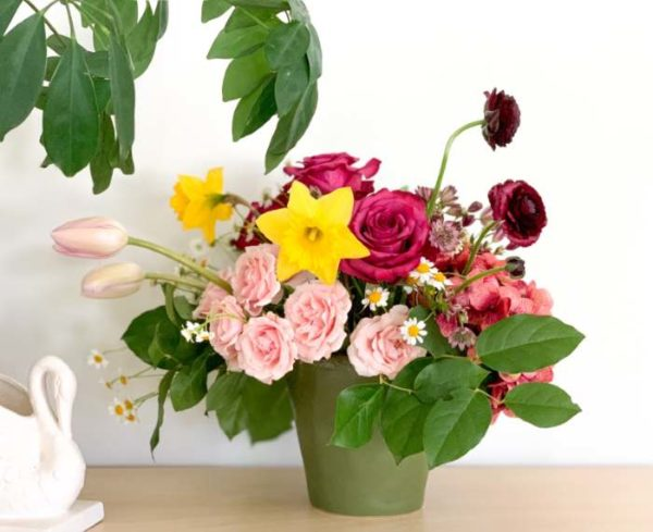Large Mother's Day arrangement with springtime blooms