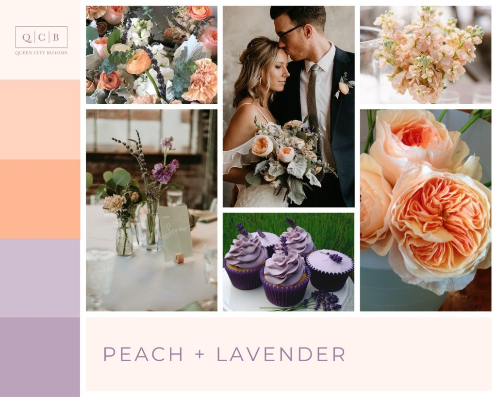 Peach and Lavender - Spring Wedding Colors