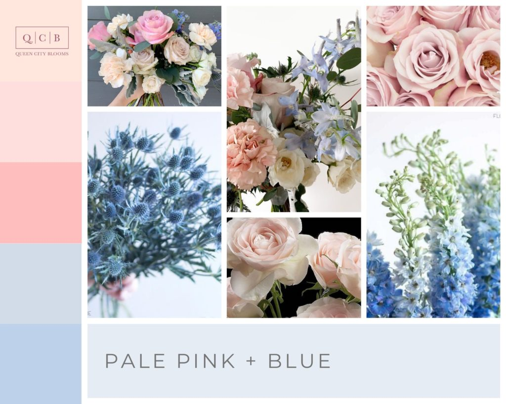 Pale Pink and Blue Spring Wedding Palette