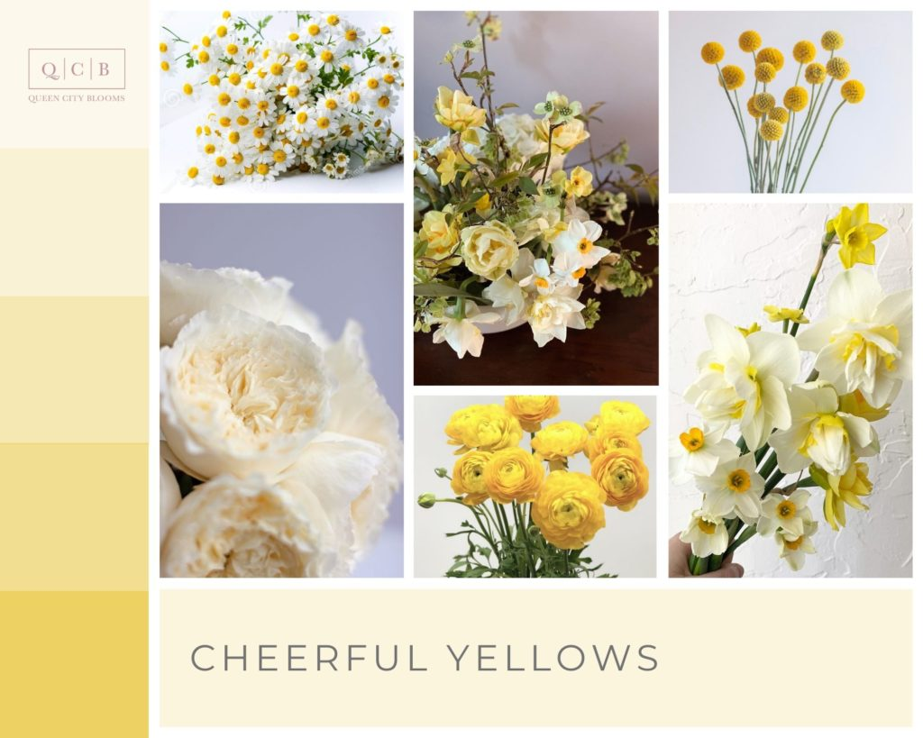 Cheerful Yellows - Spring Wedding Colors