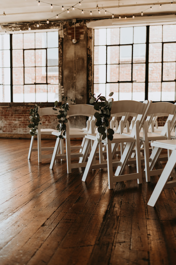 Chairs set up for ceremony