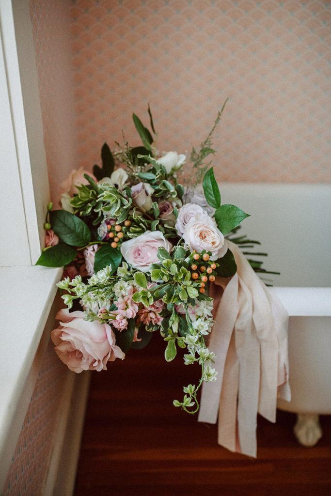Bouquet on Clawfoot Tub