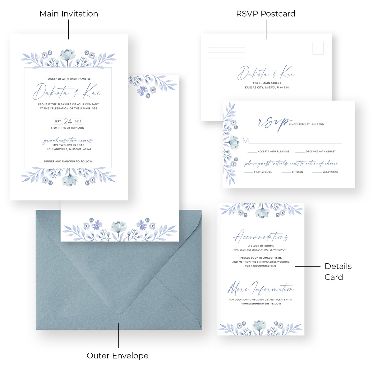 Invitation Suite with Labels