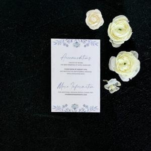 Rose Details Card - Blue
