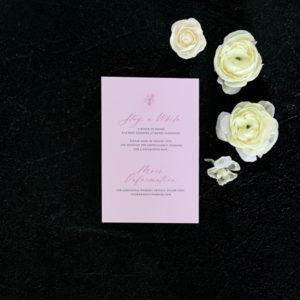 Peony Details Card - Blush