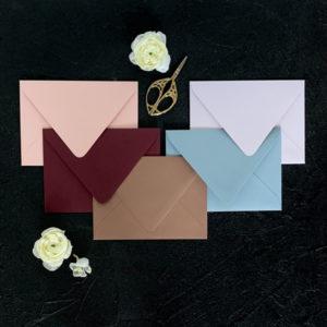 5 envelope color options
